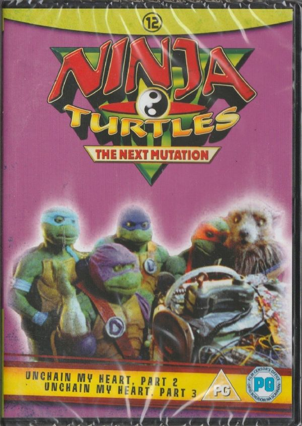 Ninja Turtles The Next Mutation Volume 12 – Unchain My Heart Part 2  & 3 1998 (DVD NEW N SEALED